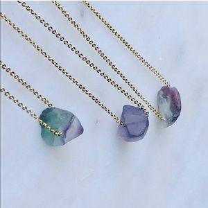 FREE 🎁 W/PURCHASE Natural Raw Fluorite Necklace